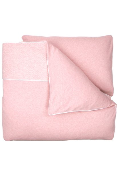 Crib / Playpen Duvet Cover & Pillow case Chevron Pink Melange