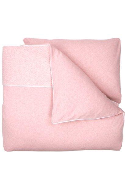 Crib / Playpen Duvet Cover & Pillow case Chevron Pink Melange