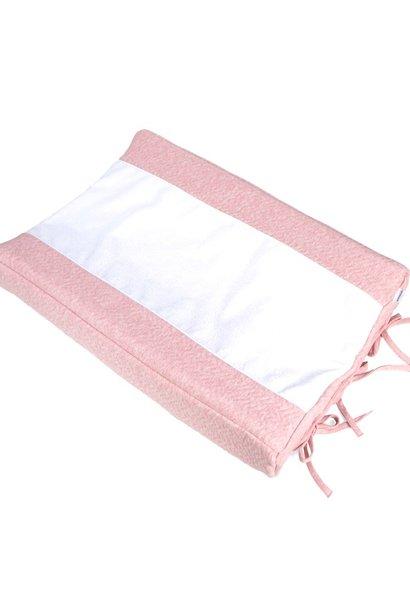 Housse matelas à langer Chevron Pink Melange