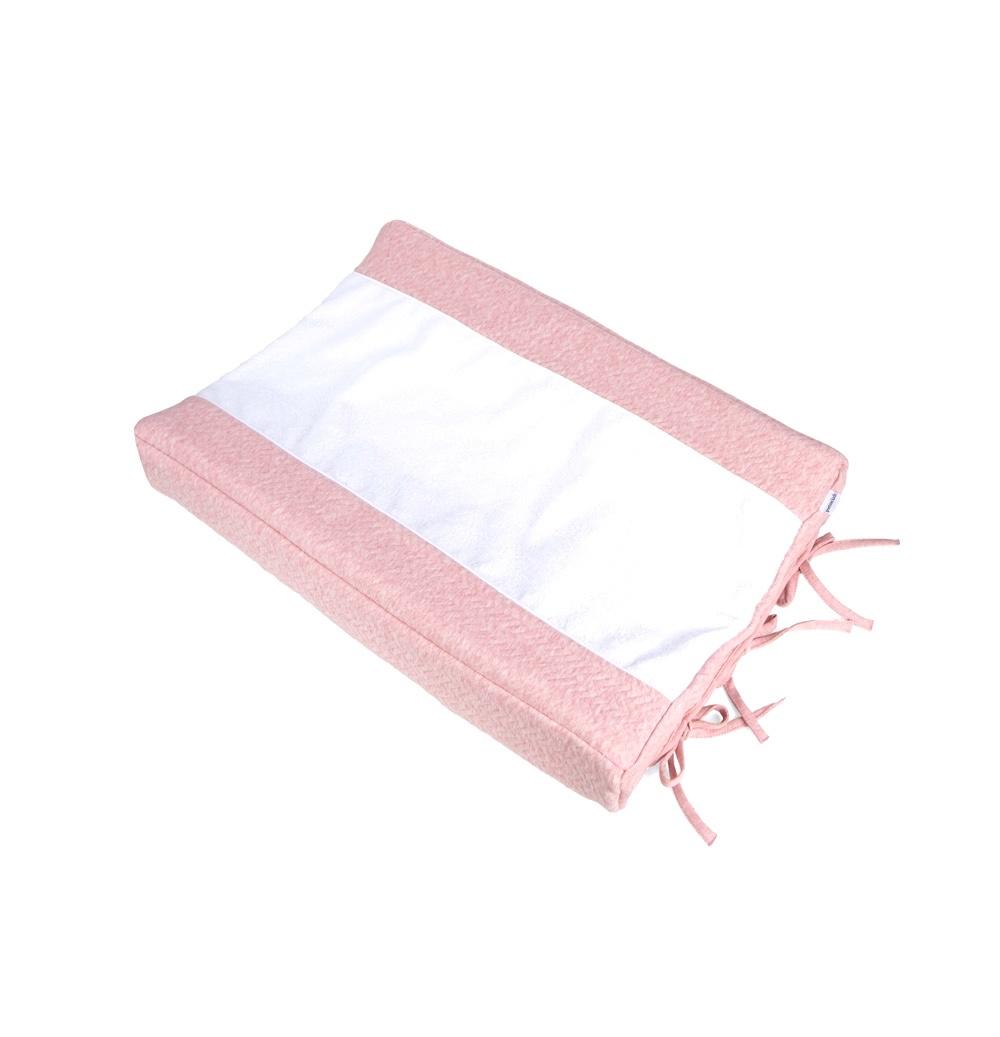 Aankleedkussenhoes Chevron Pink Melange-1