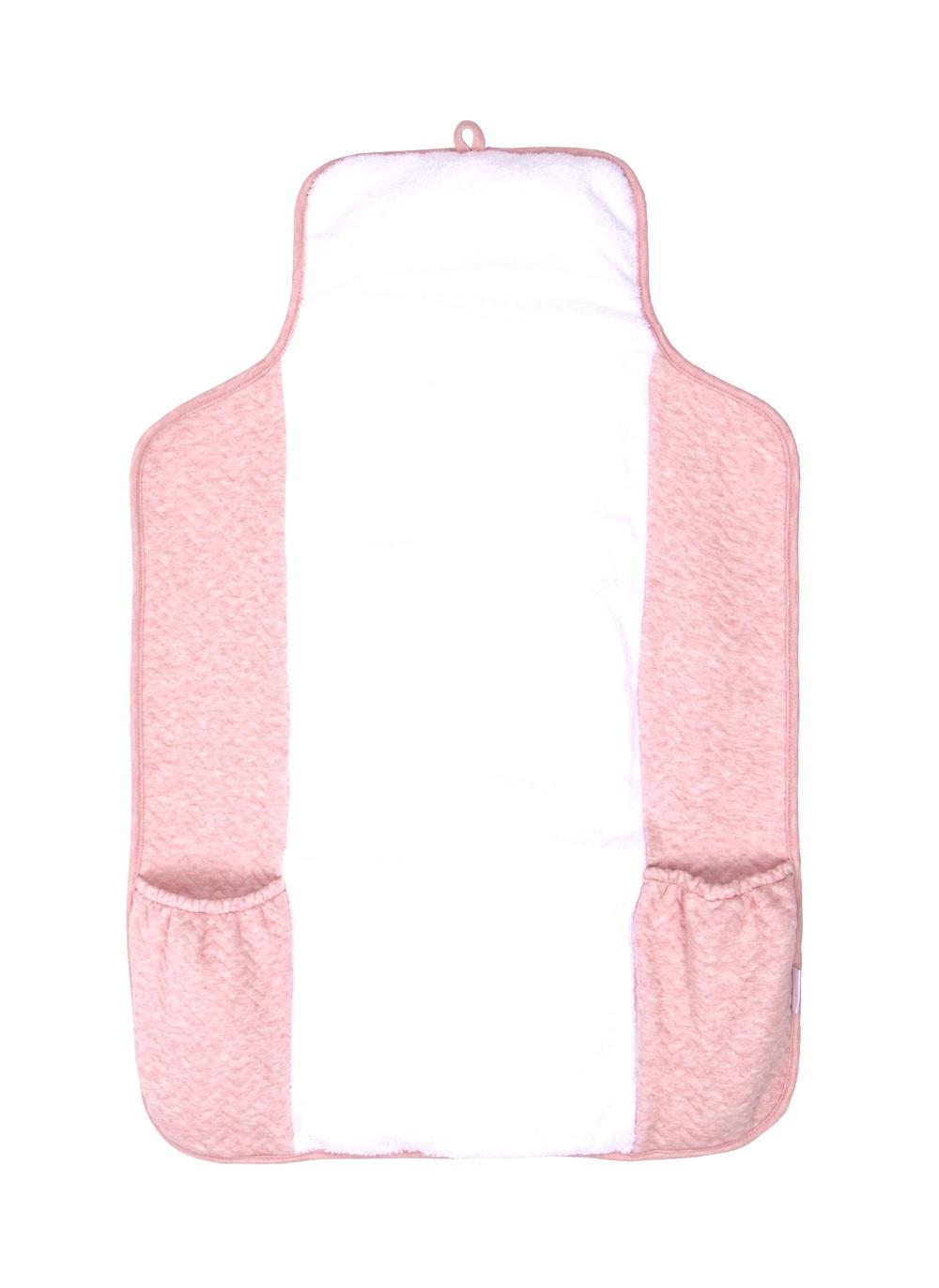 Verschoonmatje voor onderweg  Chevron Pink Melange-1