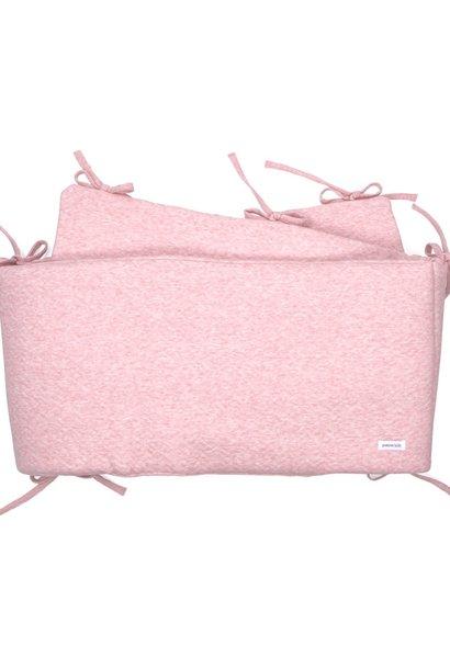 Cot Bumper Chevron Pink Melange
