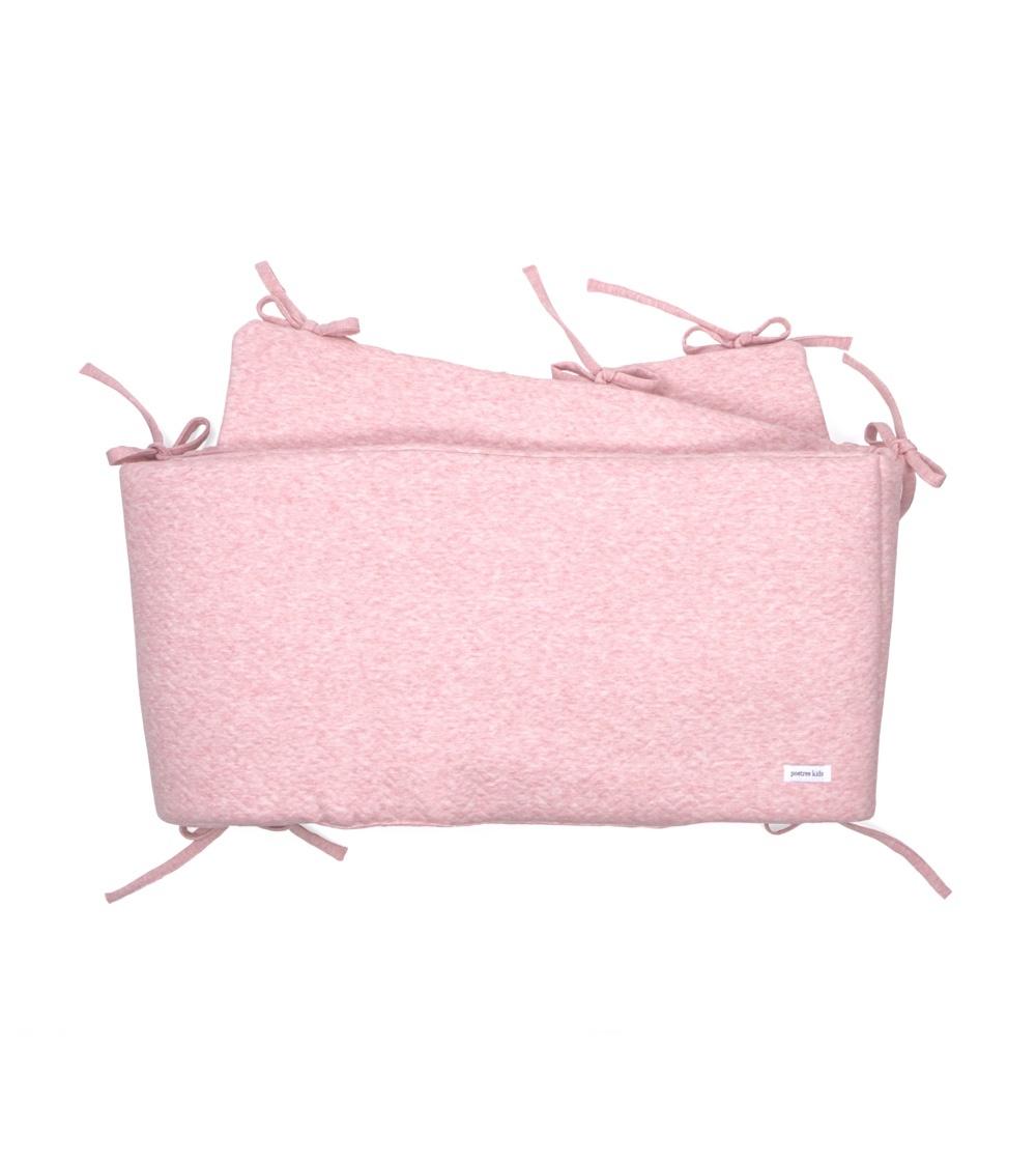 Cot Bumper Chevron Pink Melange-1
