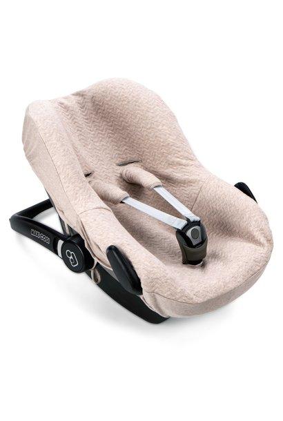 Car seat cover Chevron Light Camel