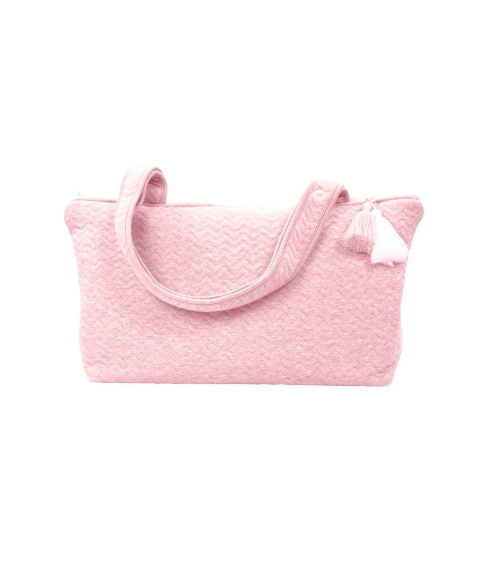 Nursery bag Chevron Pink Melange-1