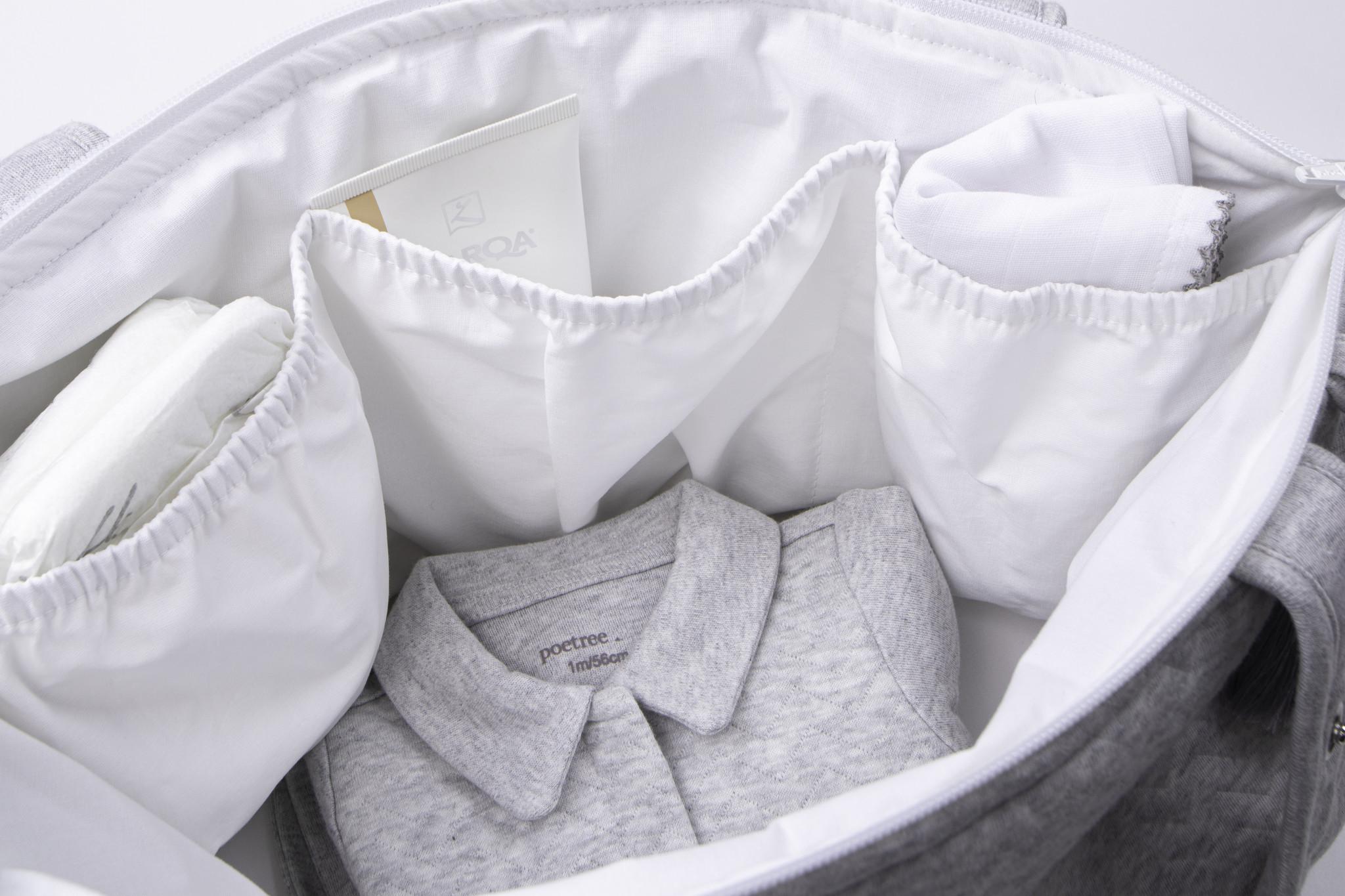 Nursery bag Chevron Pink Melange-2