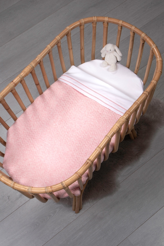 Wieg laken Chevron Pink Melange-2