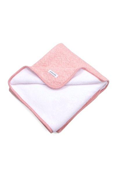 Crib blanket lined Chevron Pink Melange