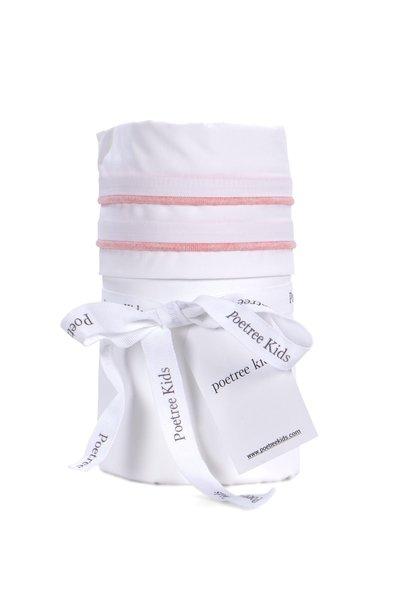 Cot / baby bed sheet Chevron Pink Melange