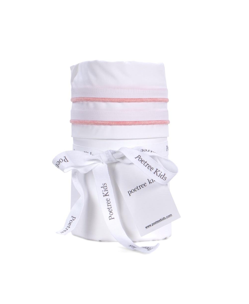 Cot / baby bed sheet Chevron Pink Melange-1