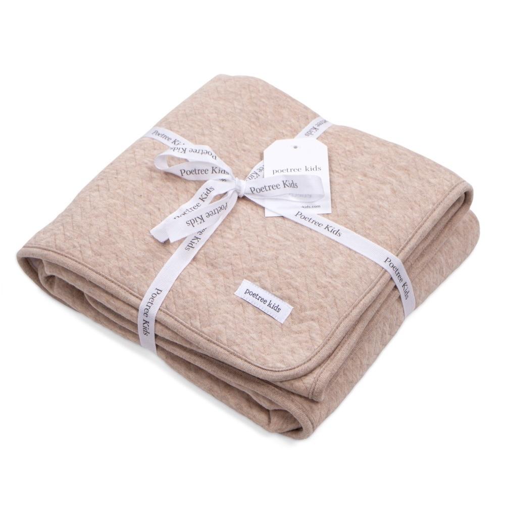 Ledikant deken gevoerd Chevron Light Camel-4