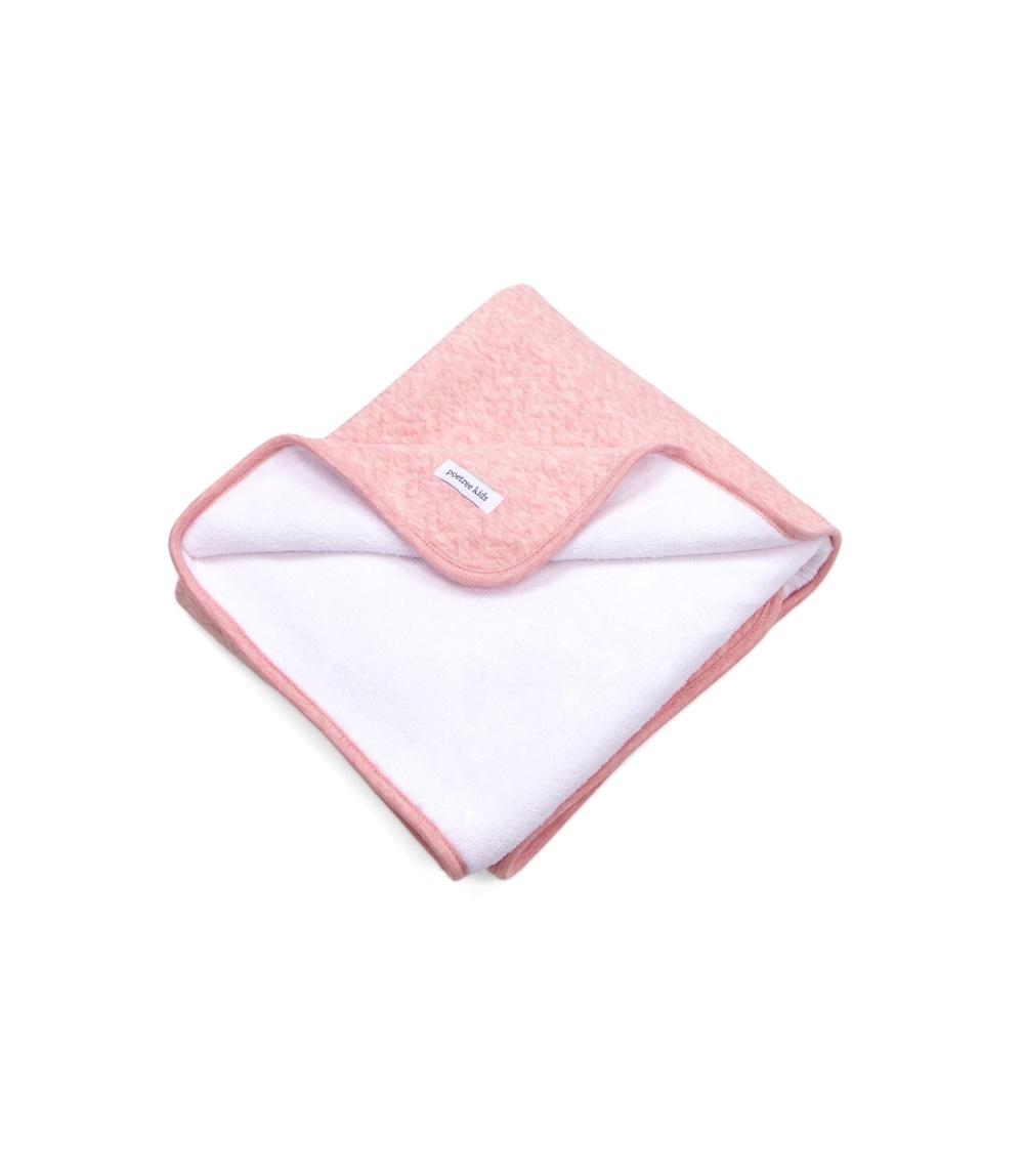 Cot Blanket lined Chevron Pink Melange-1