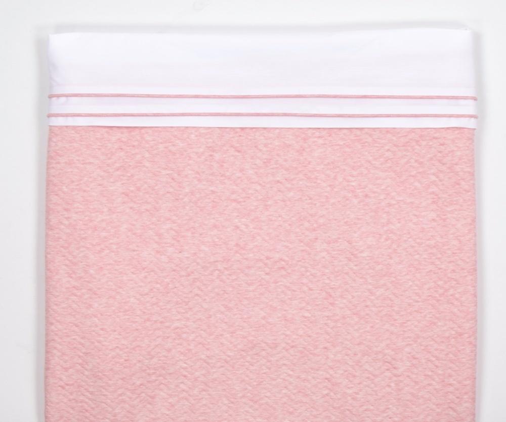 Cot Blanket lined Chevron Pink Melange-2