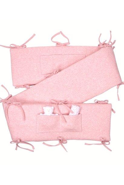 Playpen bumper Chevron Pink Melange