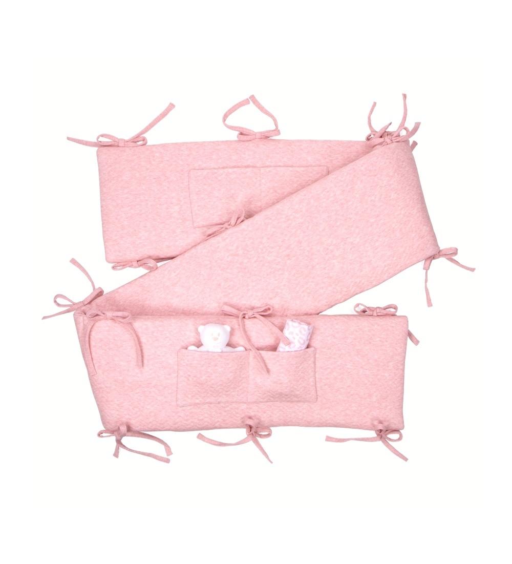 Playpen bumper Chevron Pink Melange-1