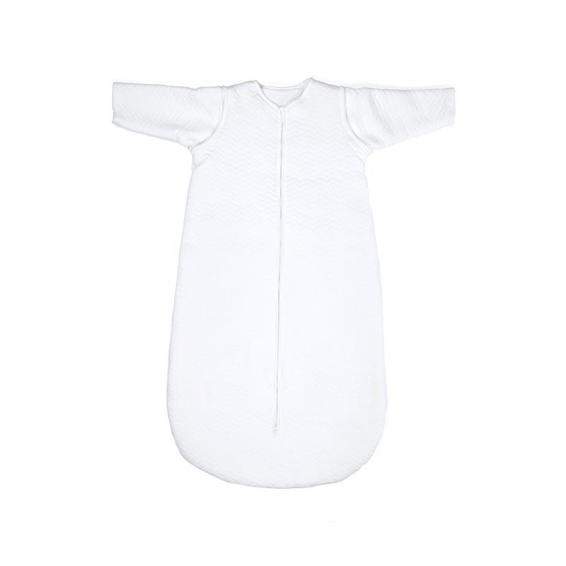 Jersey sleeping bag 70cm Chevron White with detachable sleeves-1