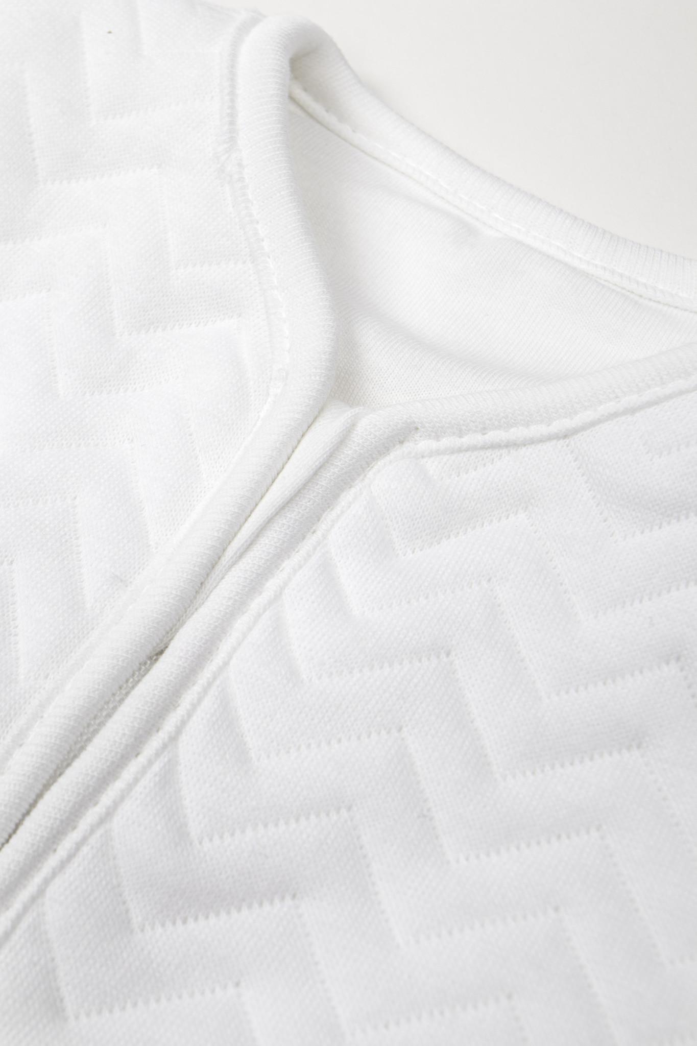 Jersey sleeping bag 70cm Summer Chevron White-4