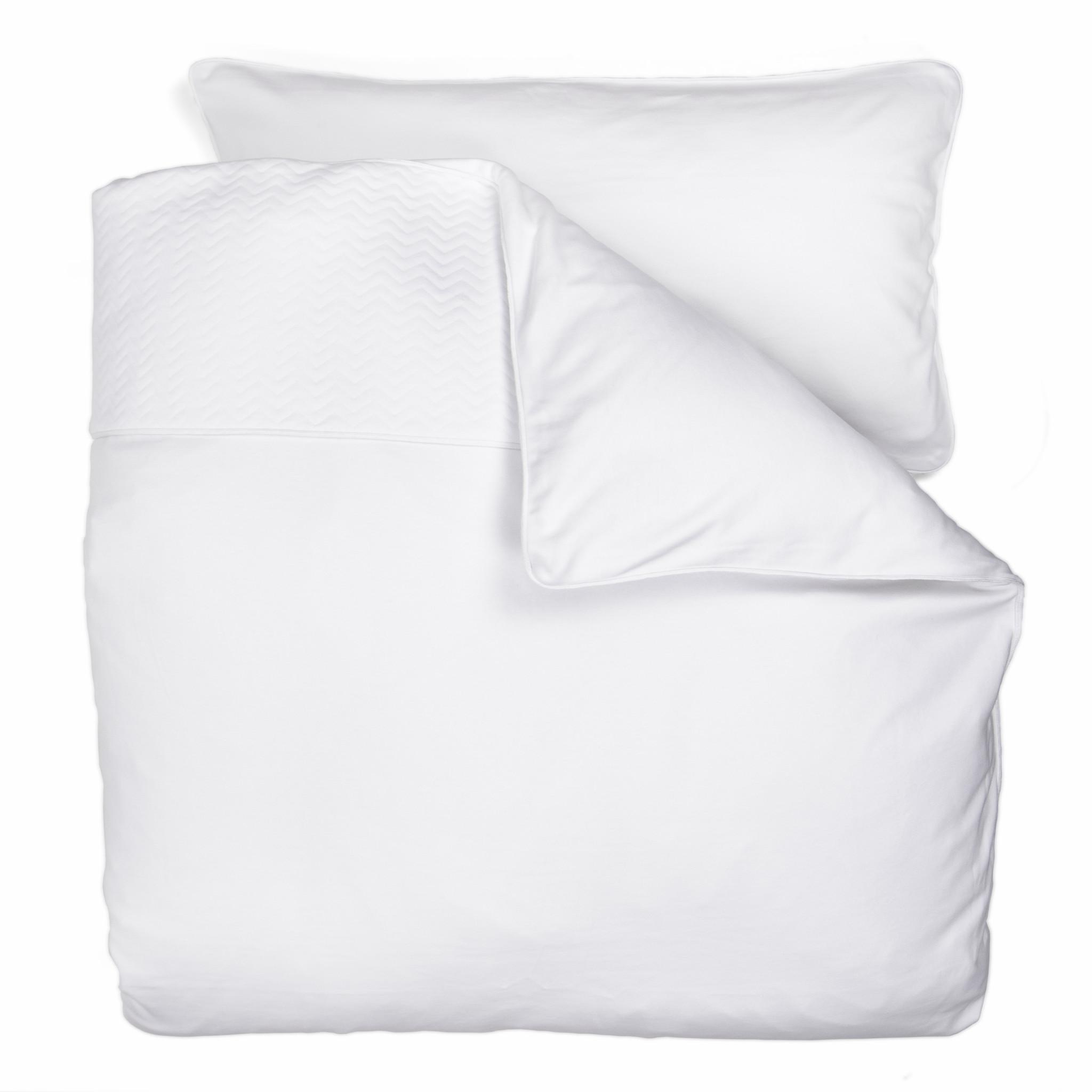 Duvet Cover (100x135cm)  & Pillow case Chevron White-3