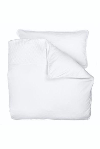 Duvet Cover & Pillow case Chevron White