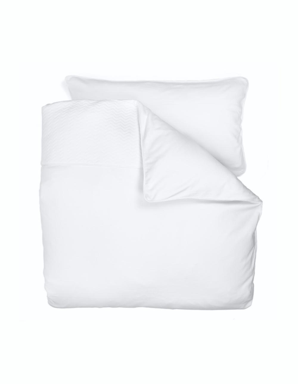Duvet Cover (100x135cm)  & Pillow case Chevron White-1