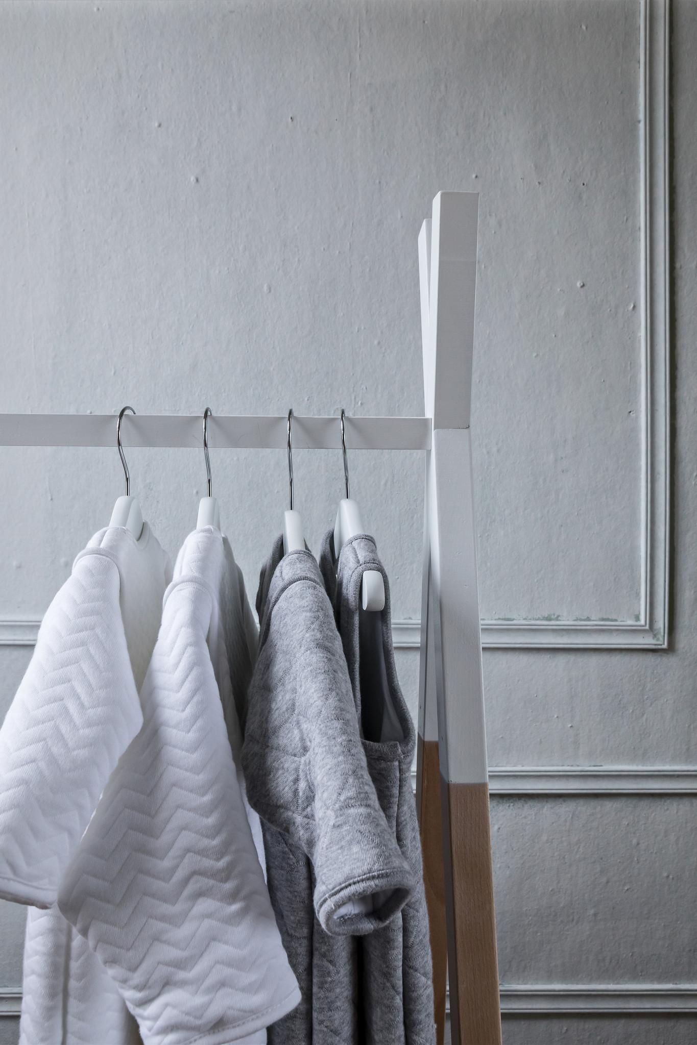 Jersey sleeping bag 70cm Chevron White with detachable sleeves-2