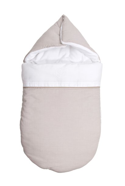 Baby footmuff Oxford Taupe