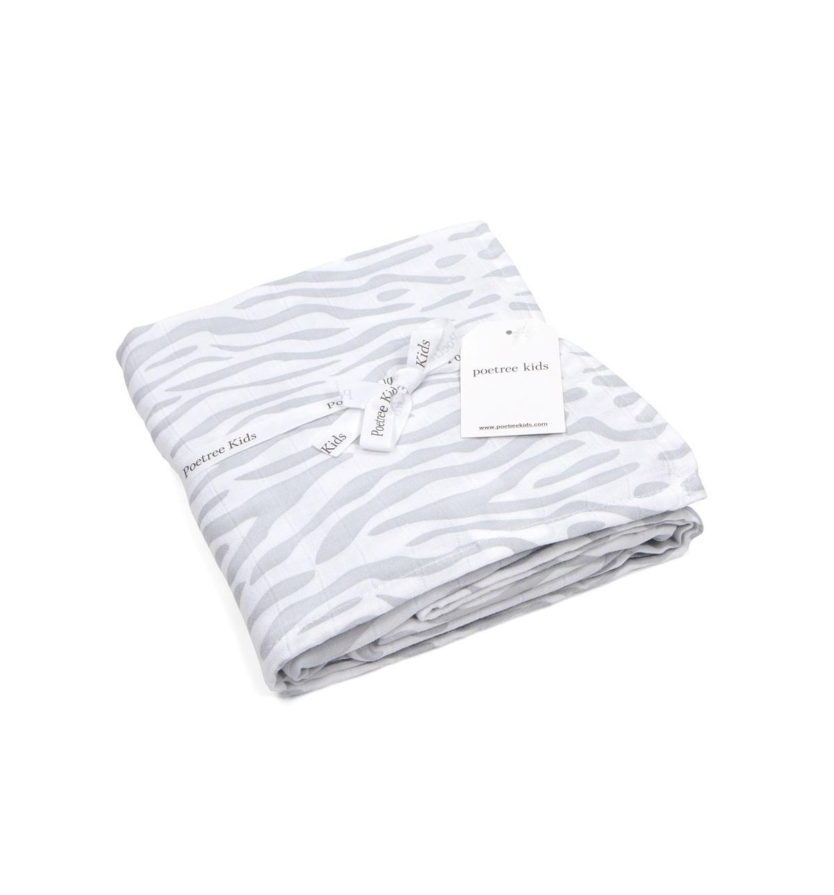 Swaddle doek 120x120cm Zebra print-7
