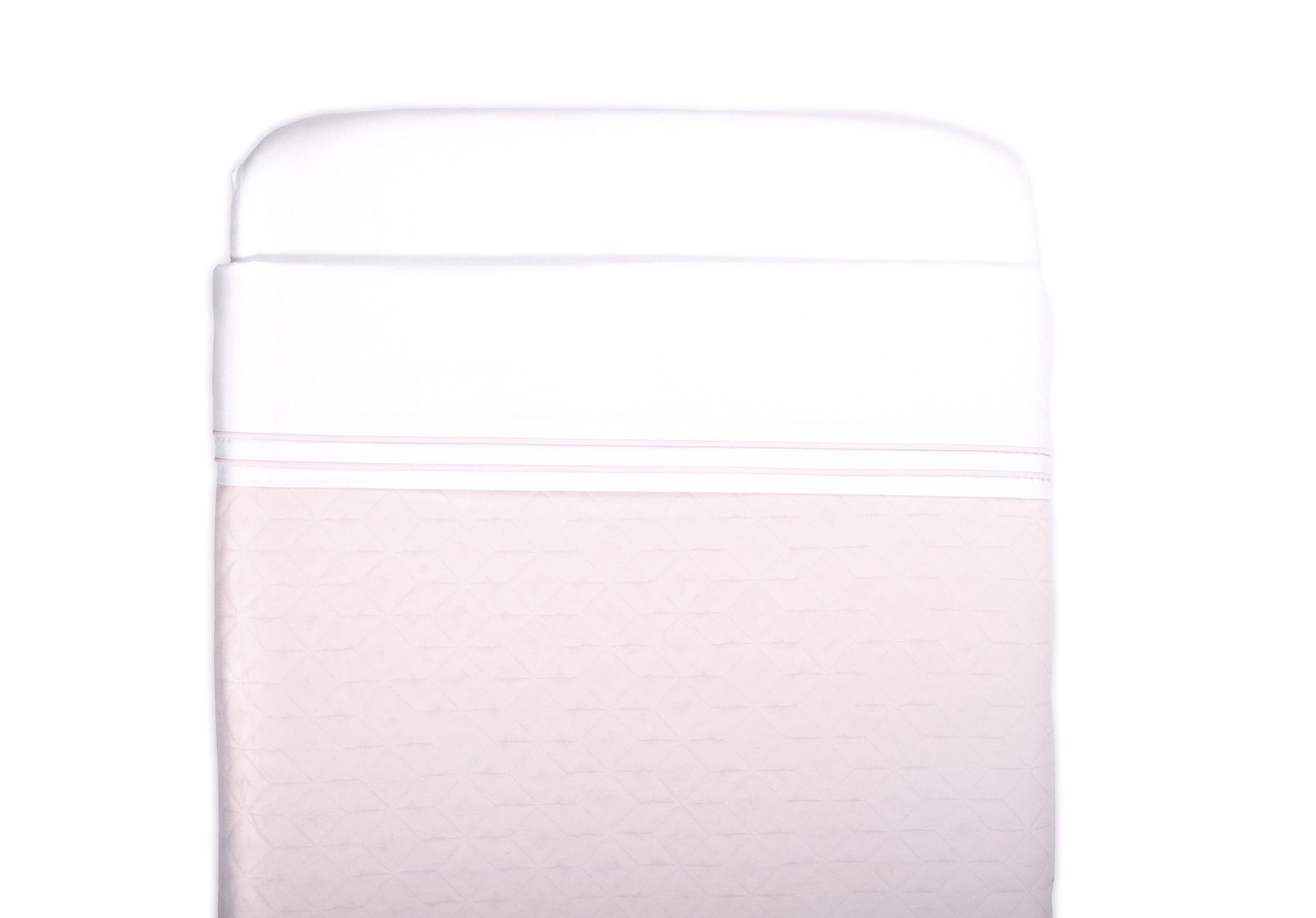 Crib blanket lined Star Soft Pink-7