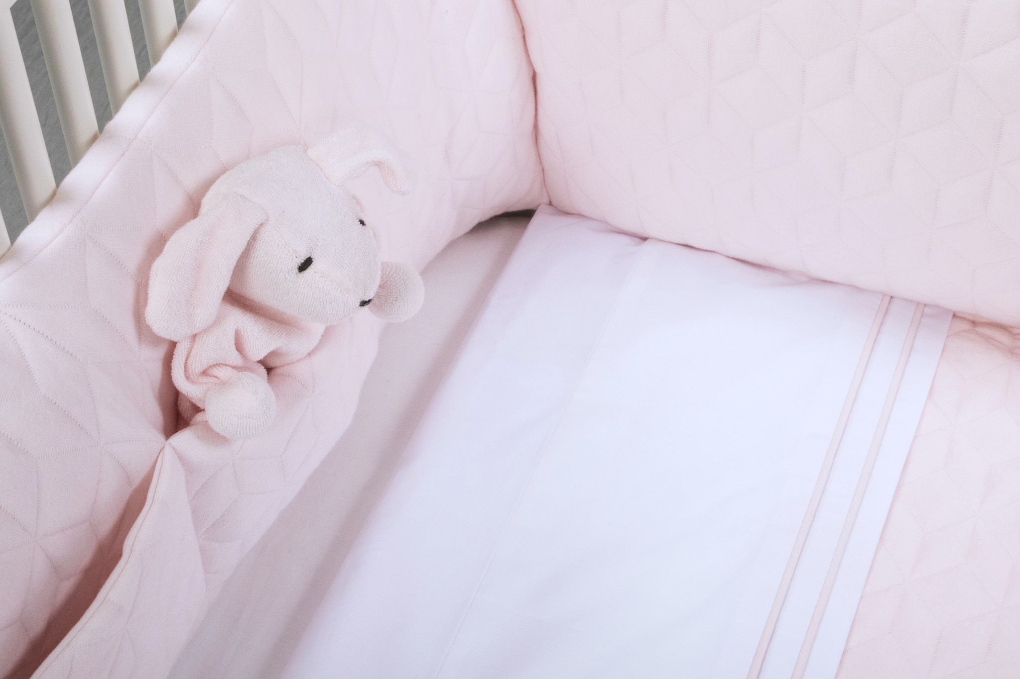 Crib blanket lined Star Soft Pink-8
