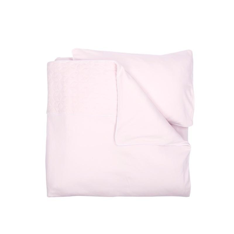 Crib / Playpen Duvet Cover set 80x80cm Star Soft Pink-3