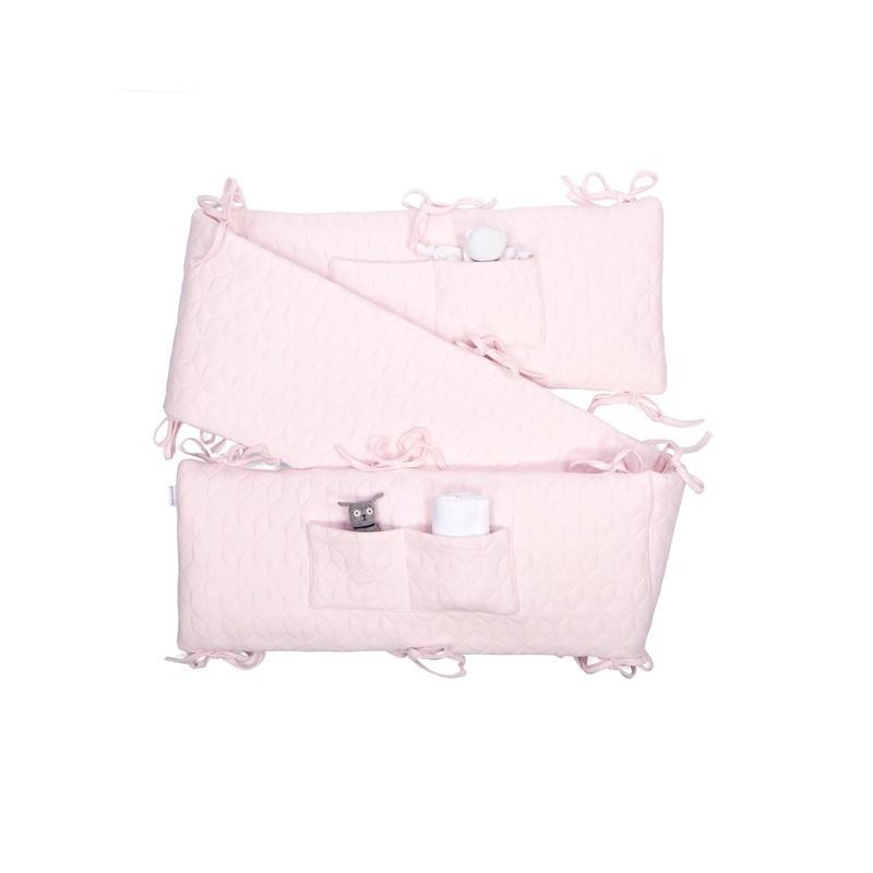 Playpen bumper Star Soft Pink-6