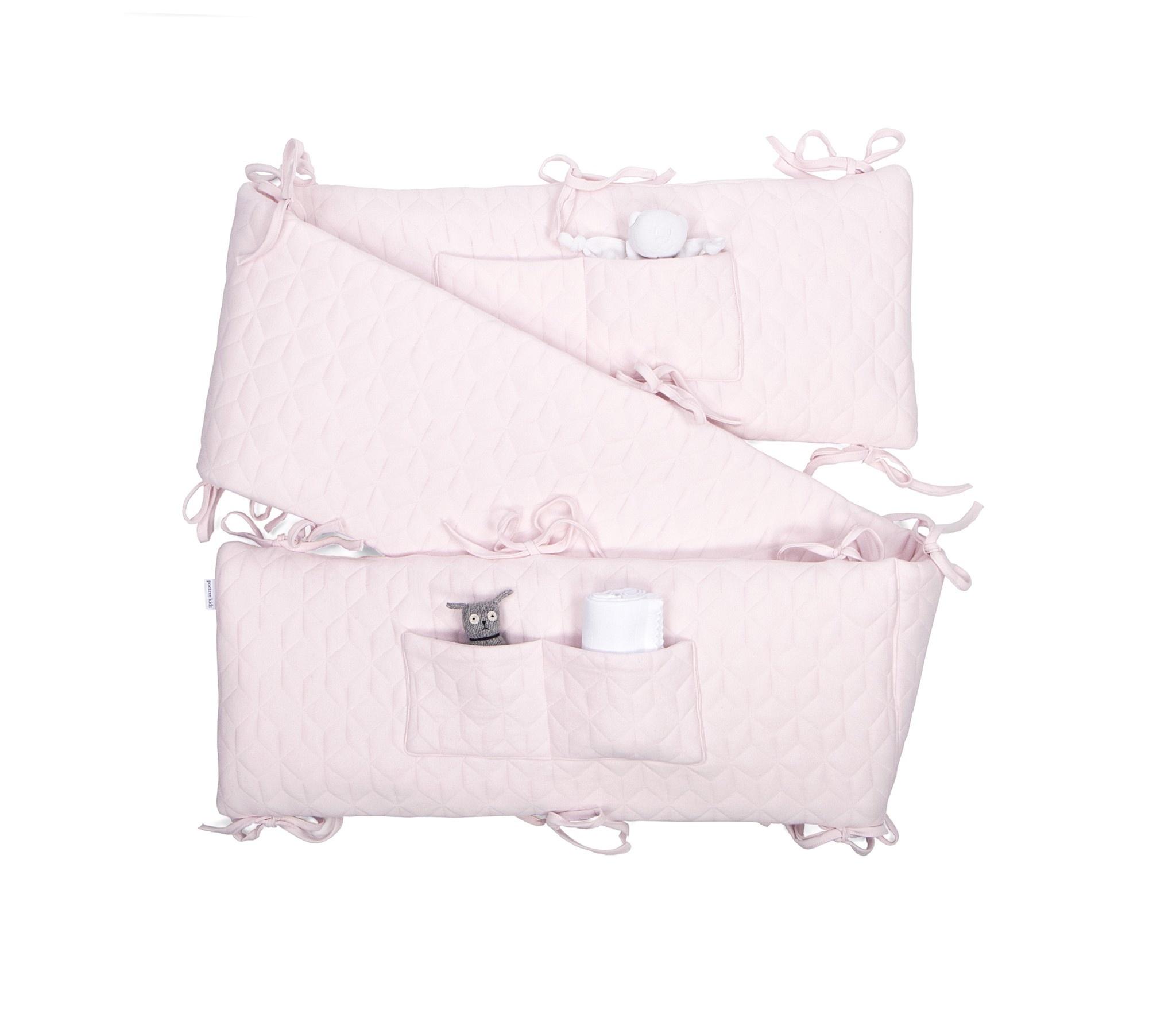 Playpen bumper Star Soft Pink-10