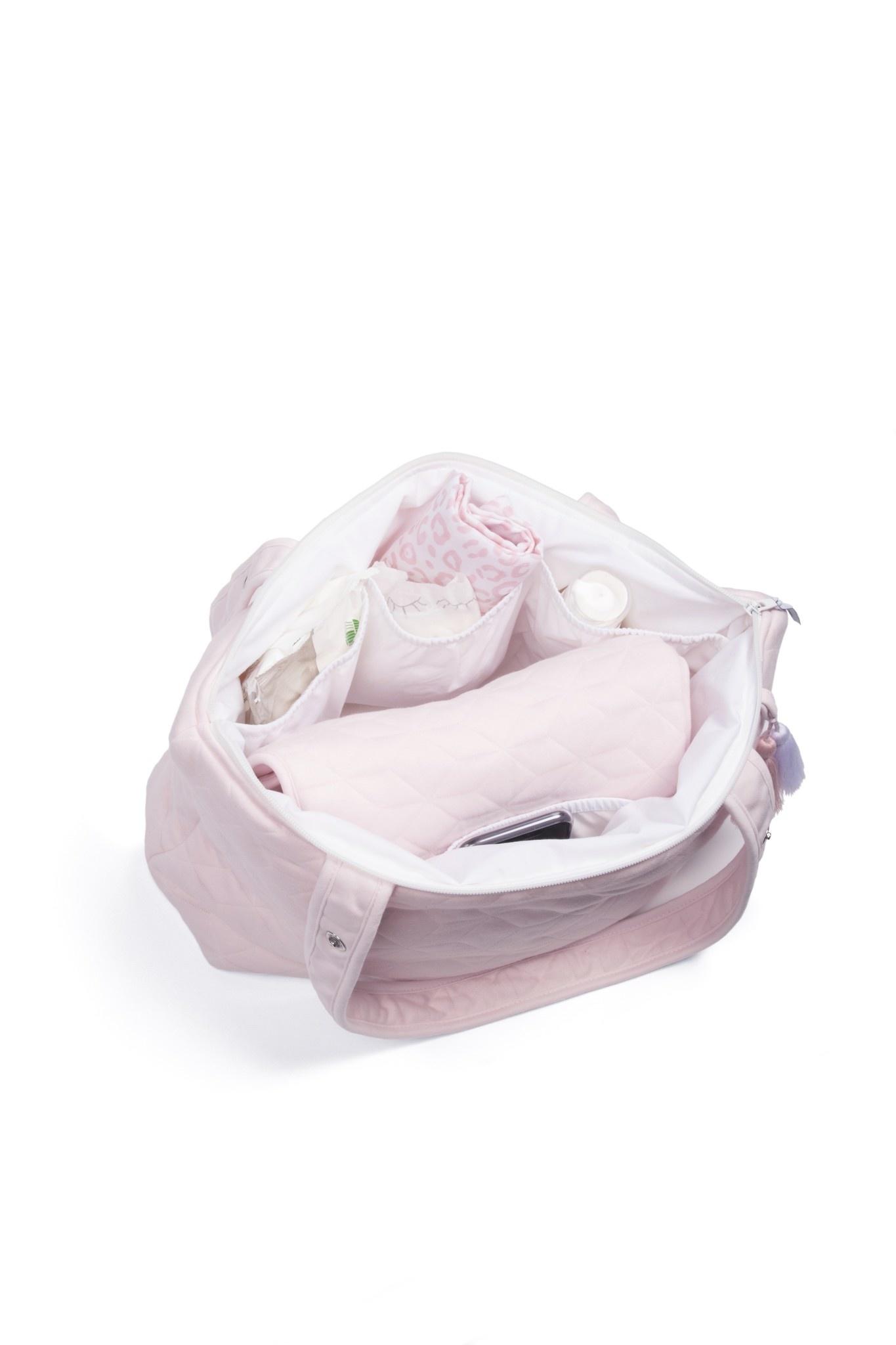 Nursery bag Star Soft Pink-7