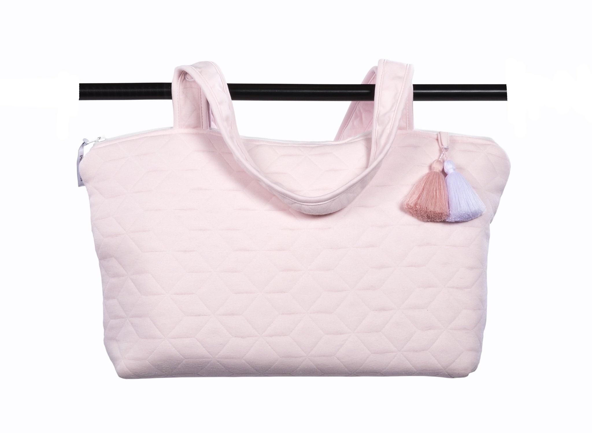 Nursery bag Star Soft Pink-9