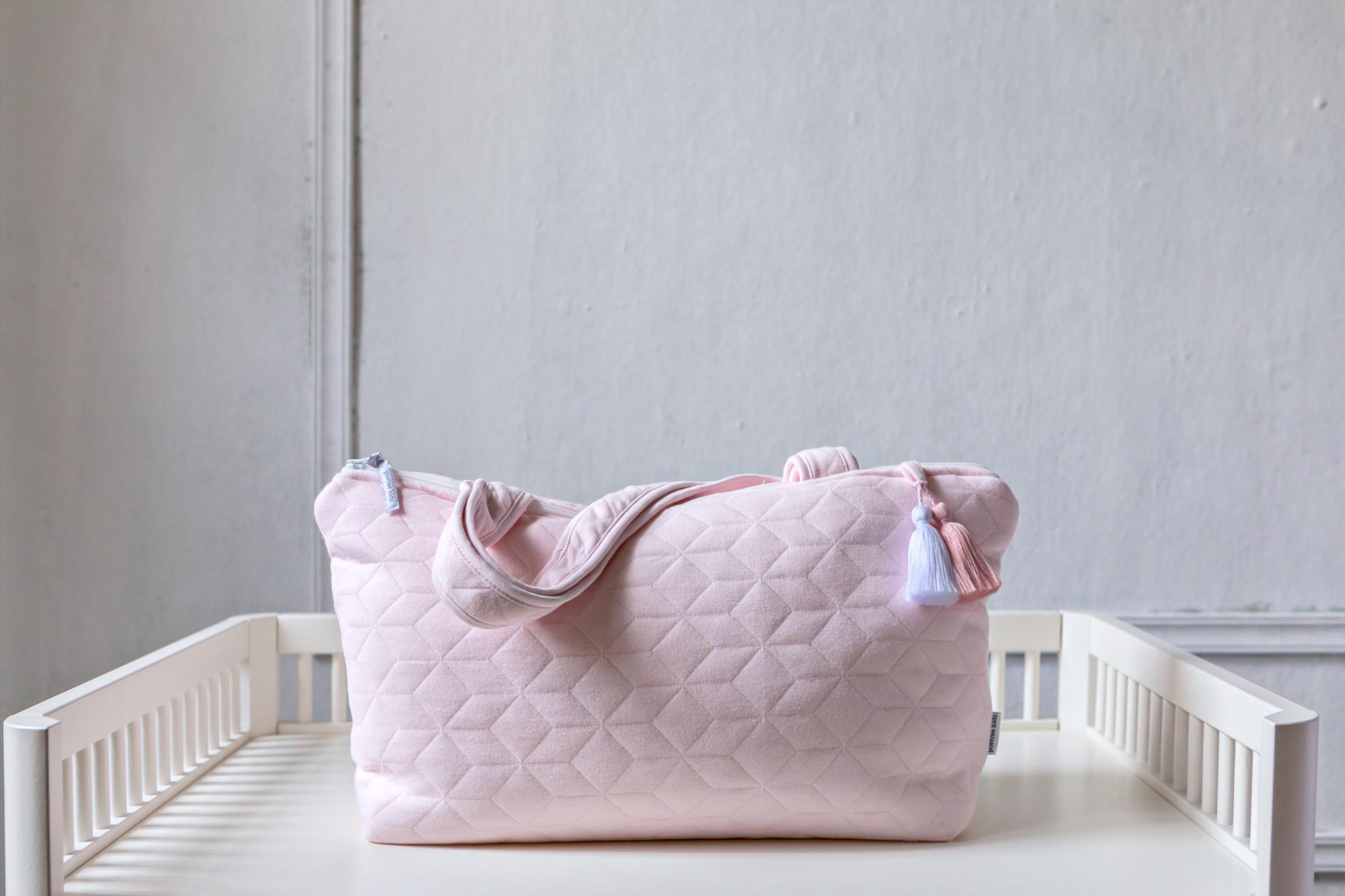 Nursery bag Star Soft Pink-10
