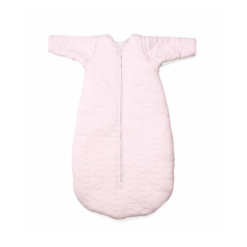 Jersey slaapzak 90cm met afritsbare mouwen Star Soft Pink-6