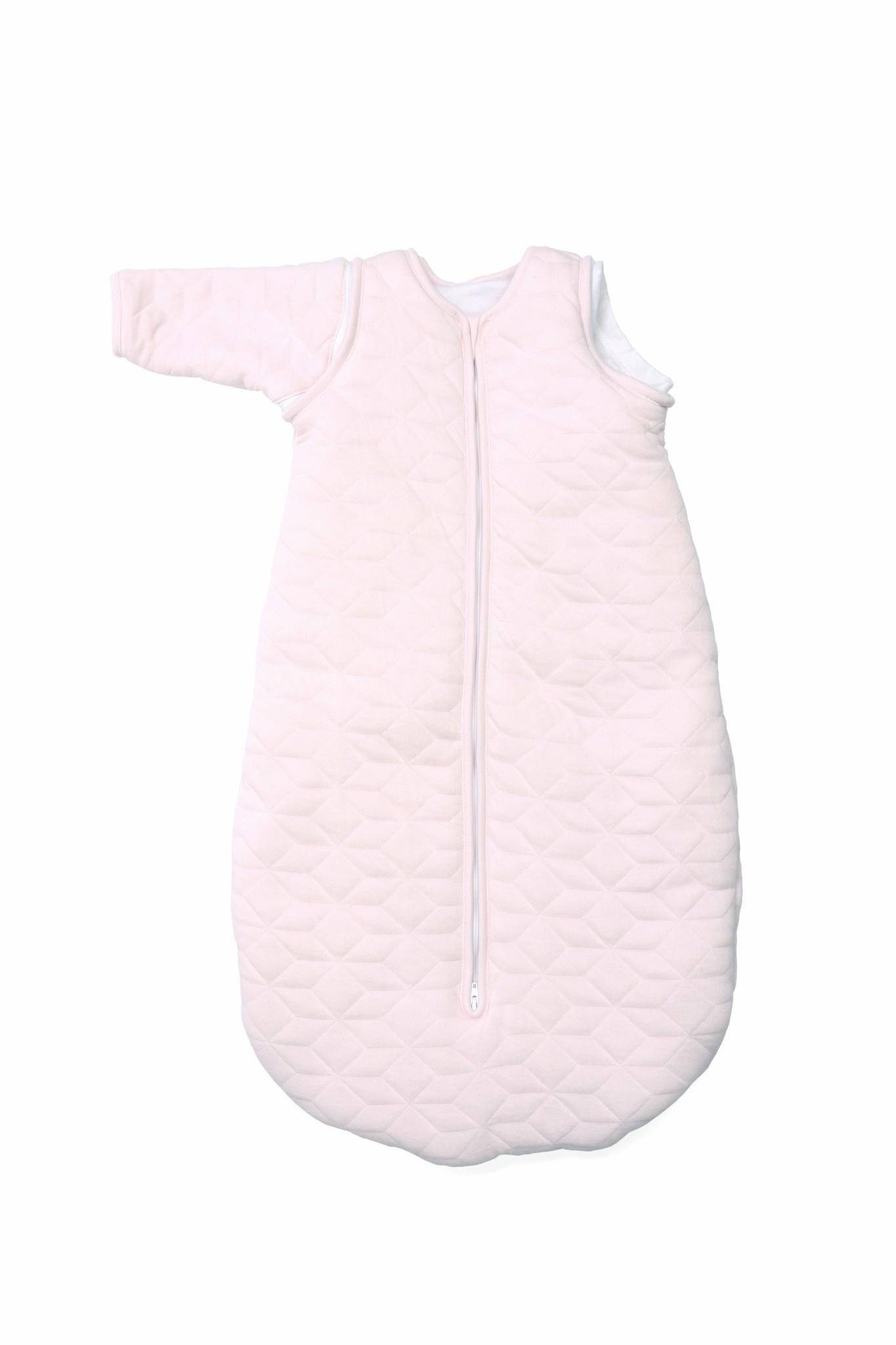 Jersey slaapzak 90cm met afritsbare mouwen Star Soft Pink-7