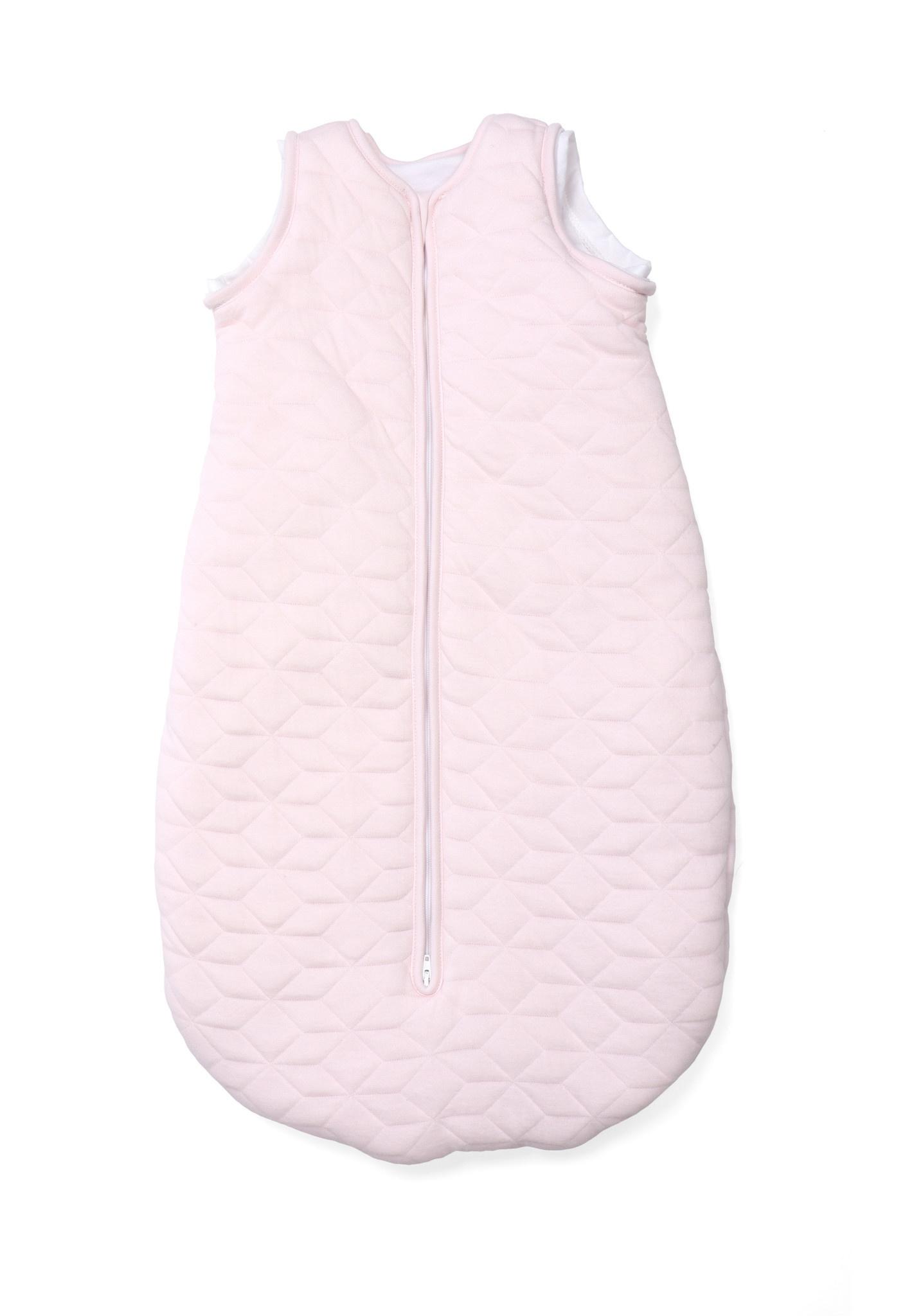 Jersey slaapzak 70cm met afritsbare mouwen Star Soft Pink-9