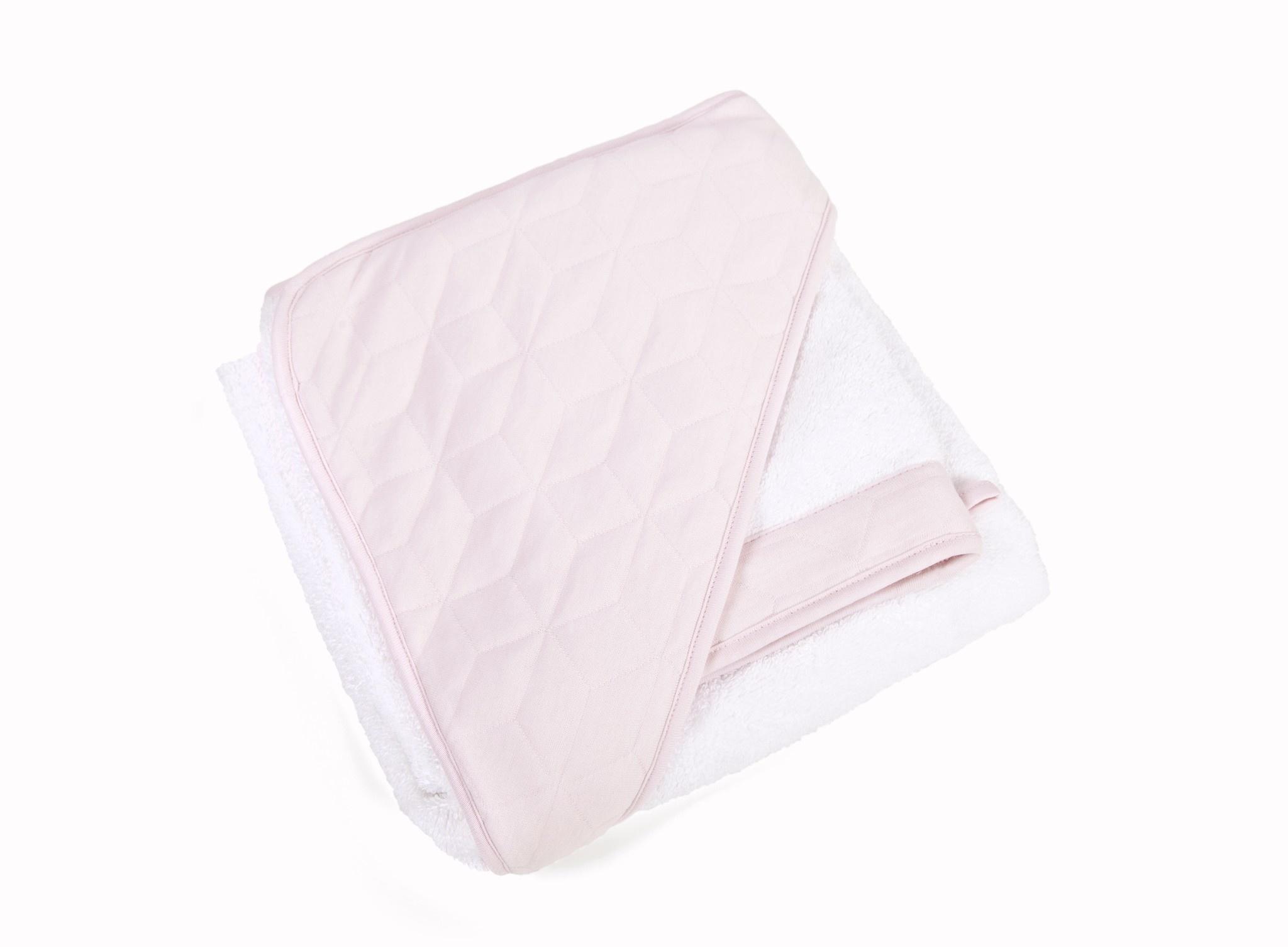 Badcape & washandje Star soft pink-4