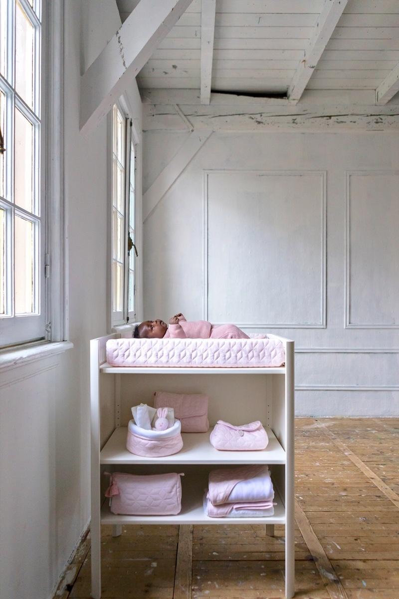 Aankleedkussenhoes Star Soft Pink-7