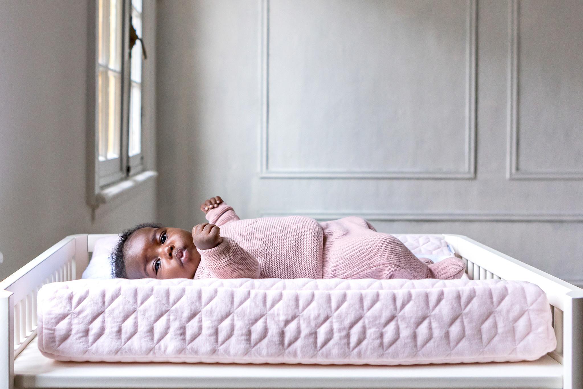 Aankleedkussenhoes Star Soft Pink-9