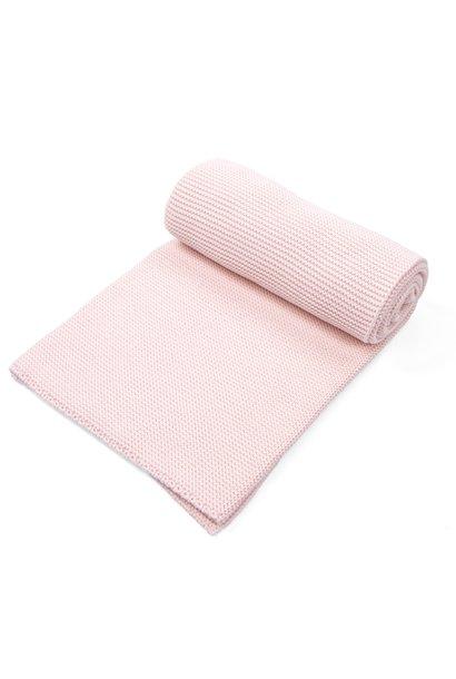 Knitted Crib Blanket Powder Pink