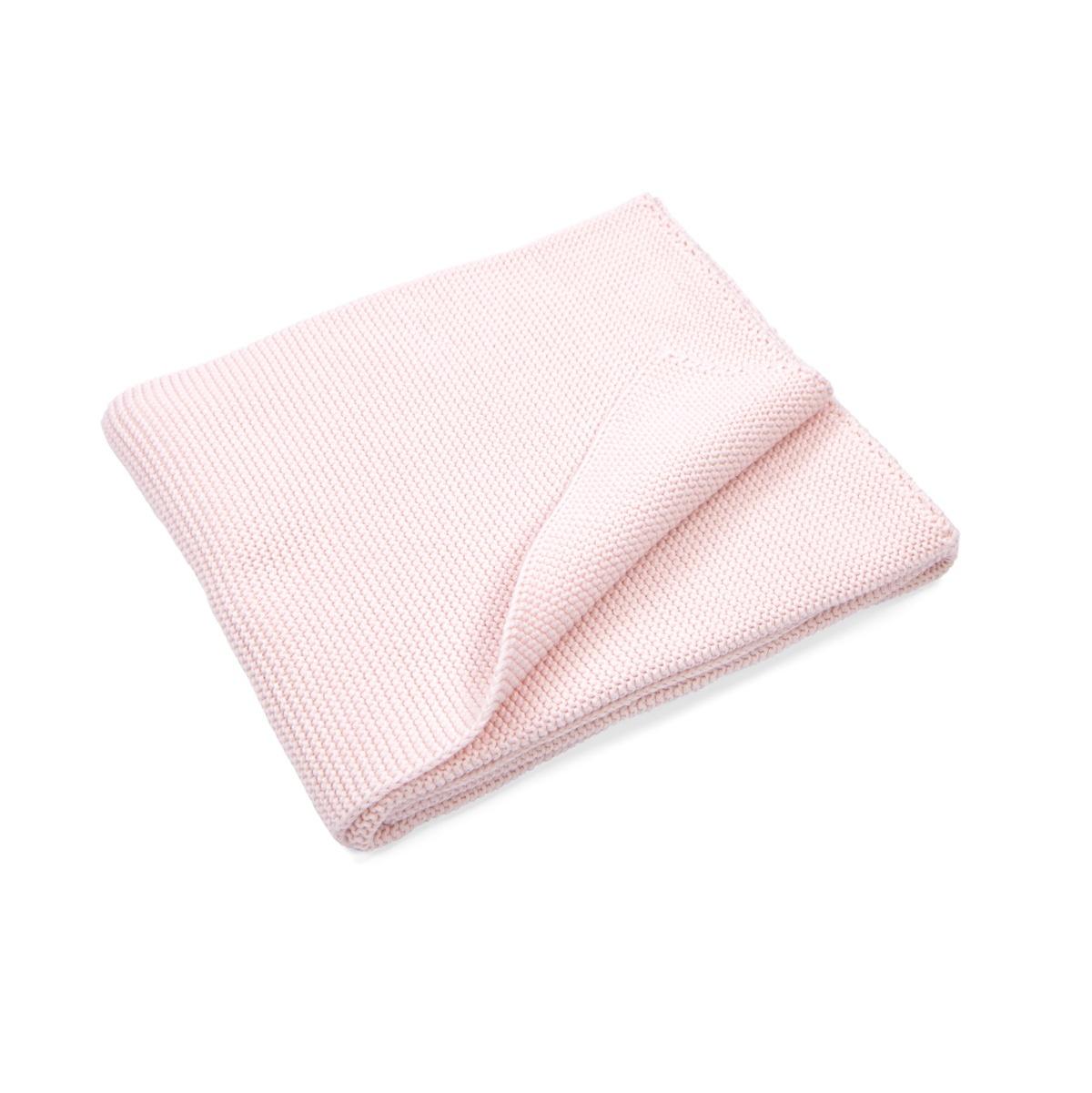 100% Cotton Knitted Crib Blanket  Dark Grey Melange-2