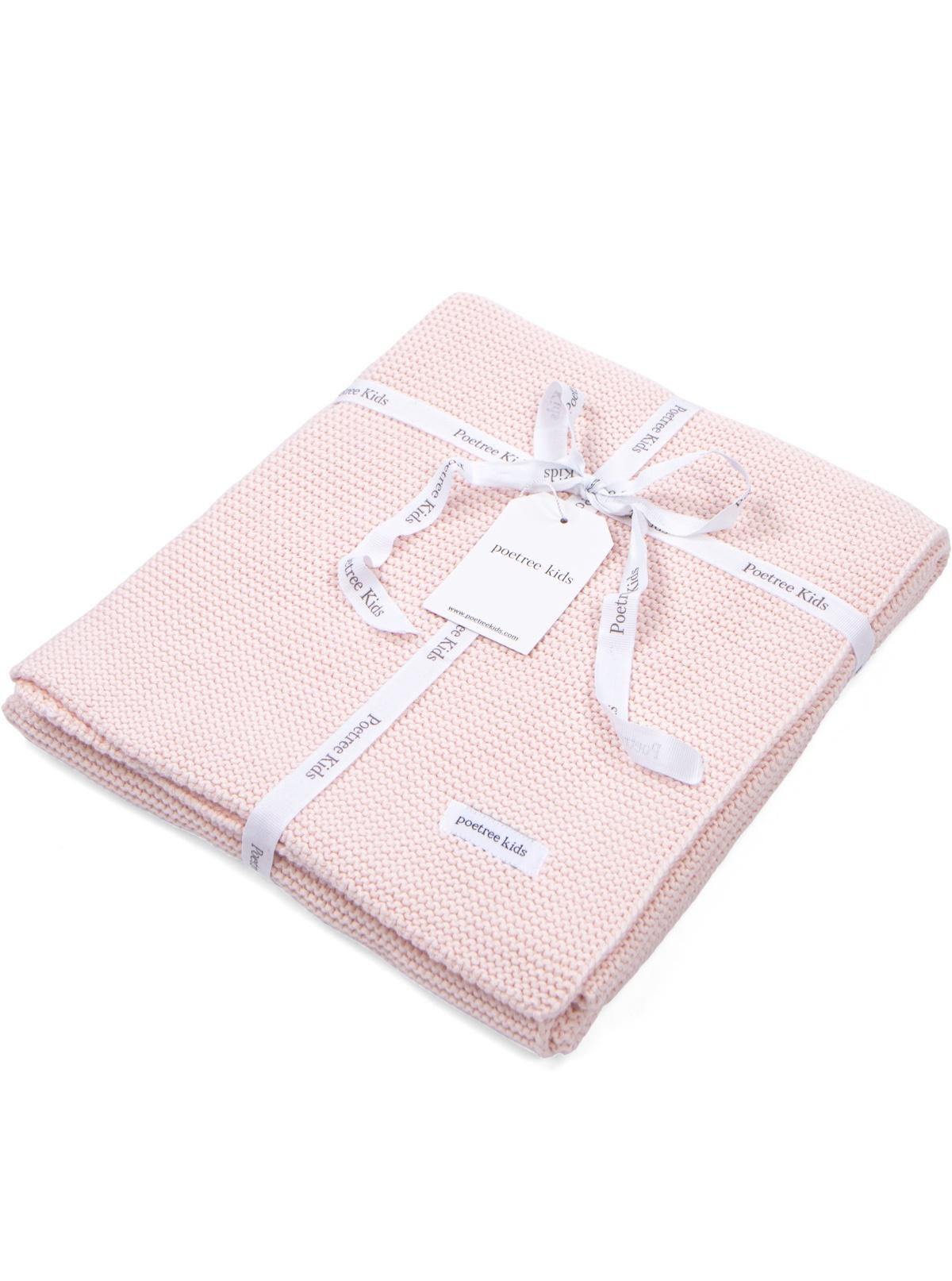 100% Cotton Knitted Crib Blanket  Dark Grey Melange-3