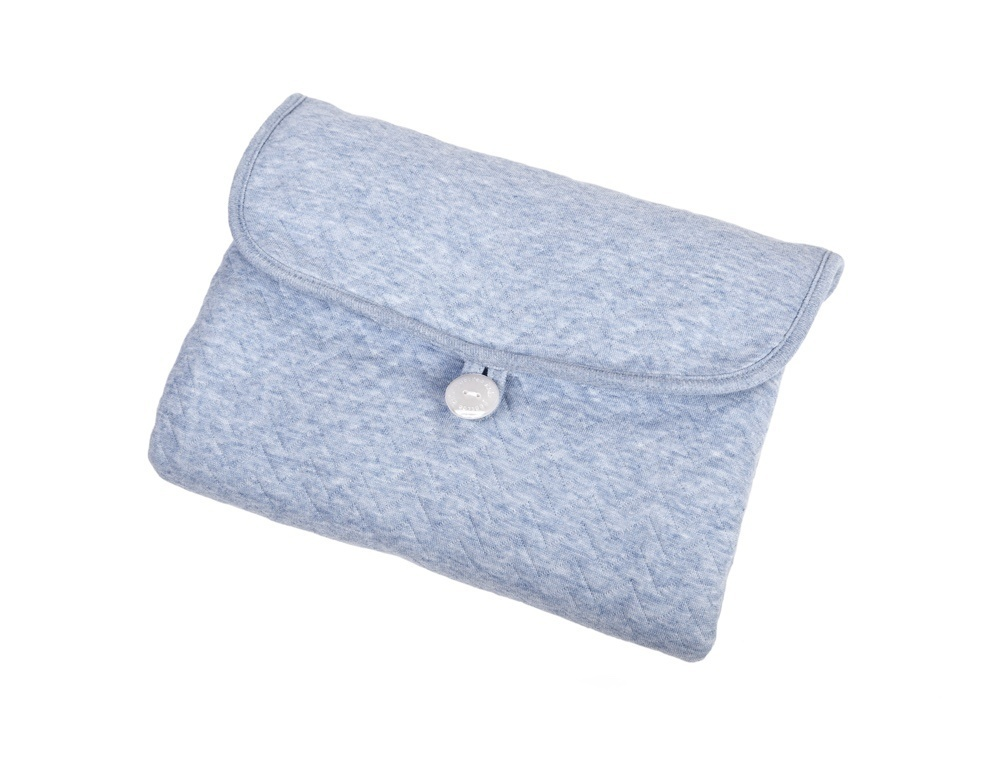 Gift set Chevron Denim Blue with white-7