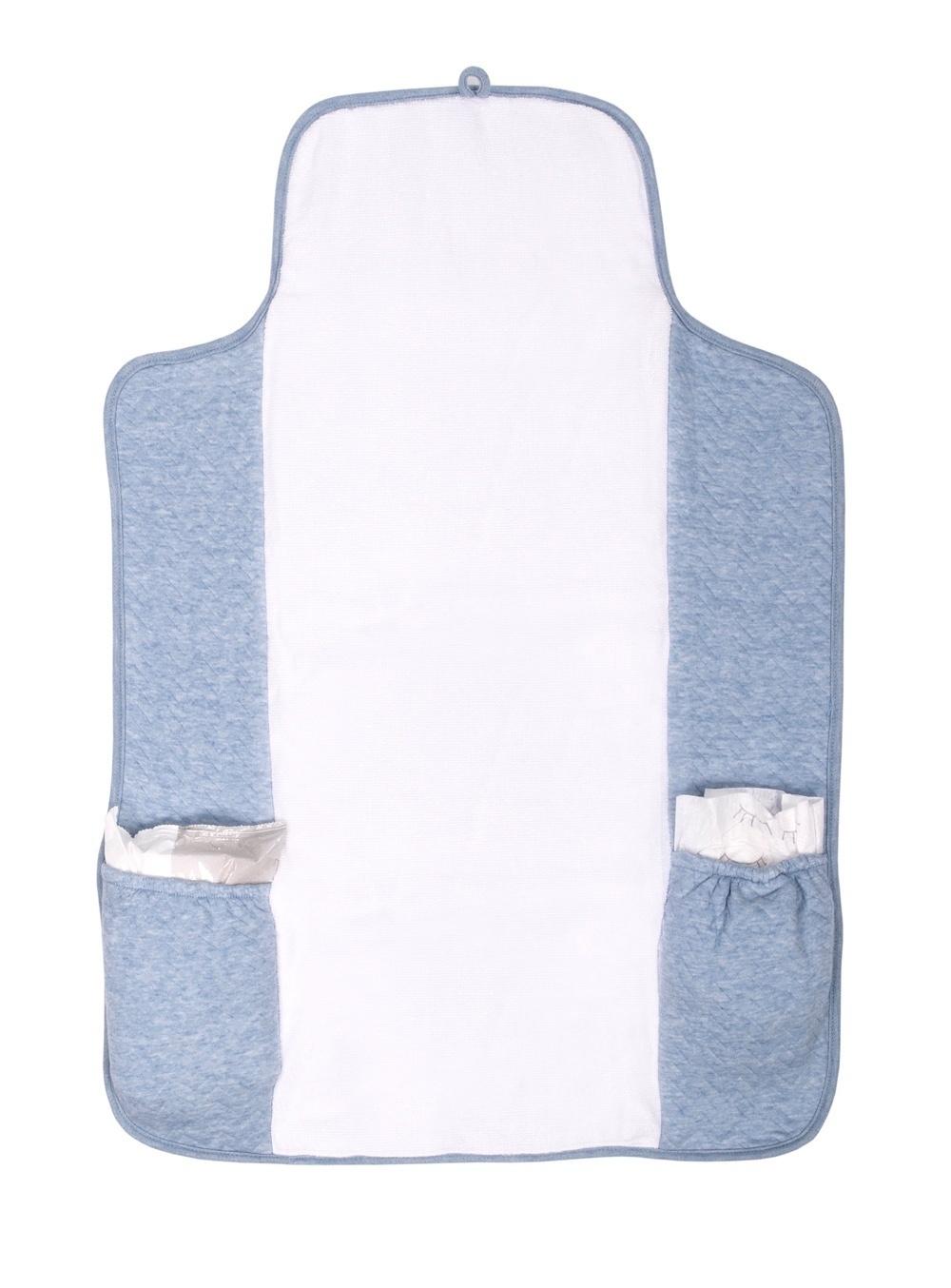 Gift set Chevron Denim Blue with white-8