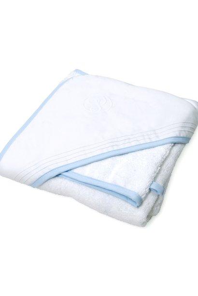 Cape de bain & gant de toilette Oxford Blue