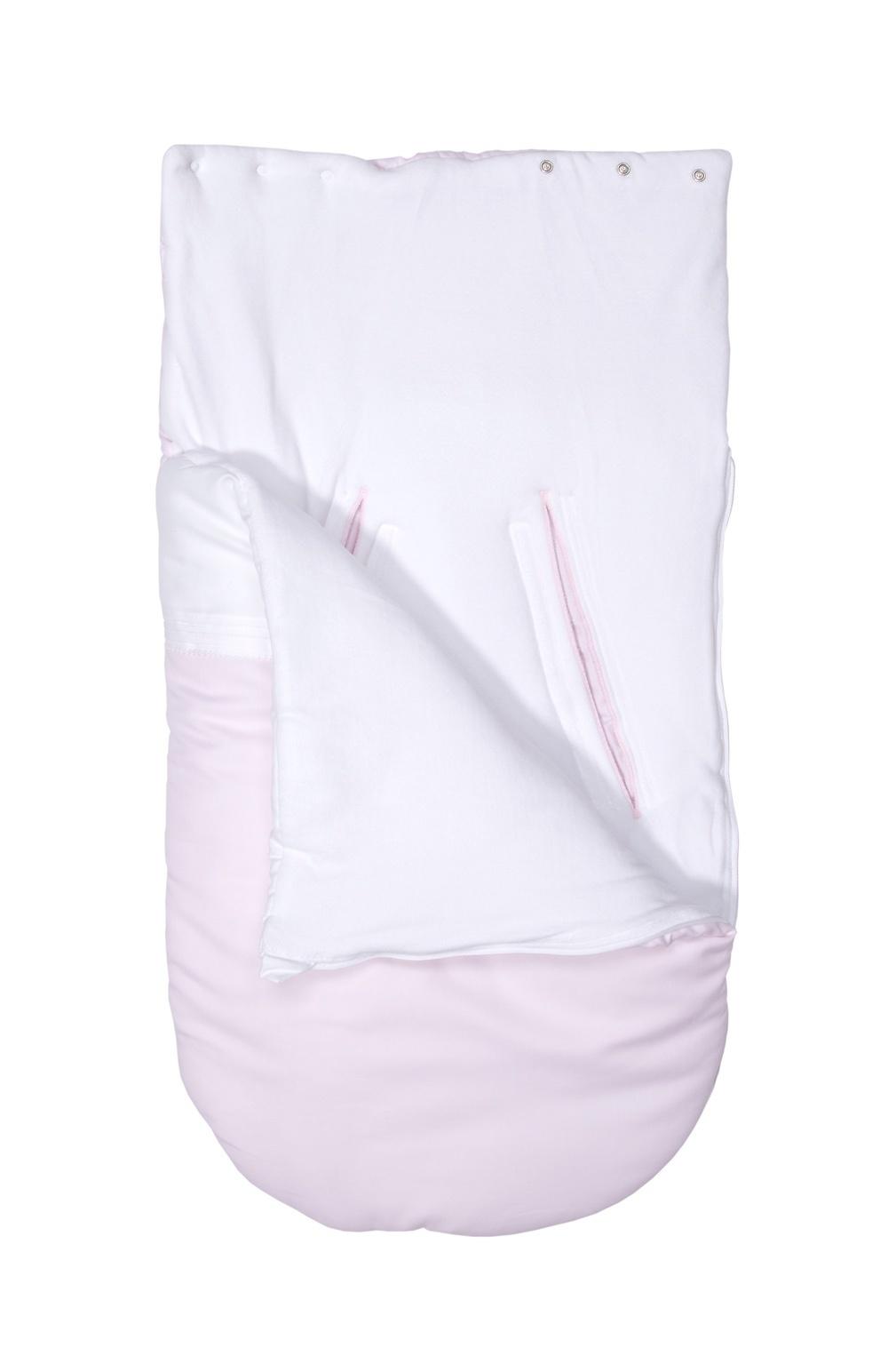 Baby footmuff 5 point belt Oxford Soft Pink-4