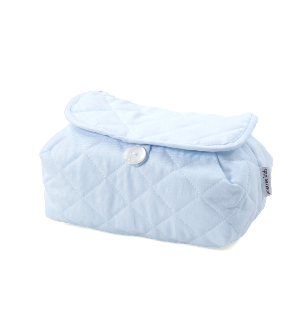 Baby wipes cover Oxford Blue-1