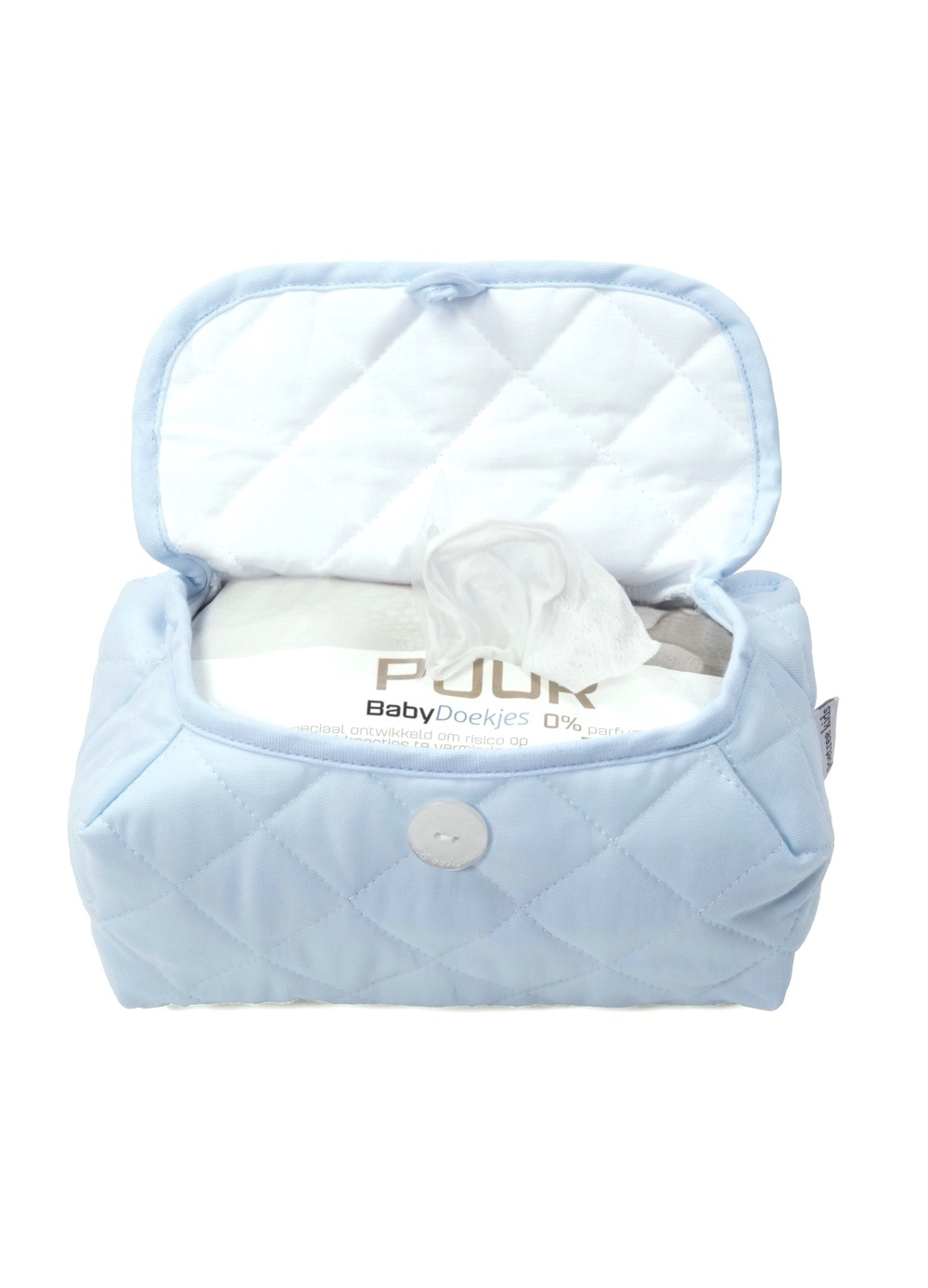 Baby wipes cover Oxford Blue-2